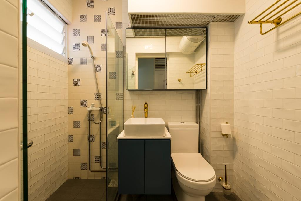 Scandinavian, HDB, Bathroom, Yishun Ring Road, Interior Designer, Project Guru