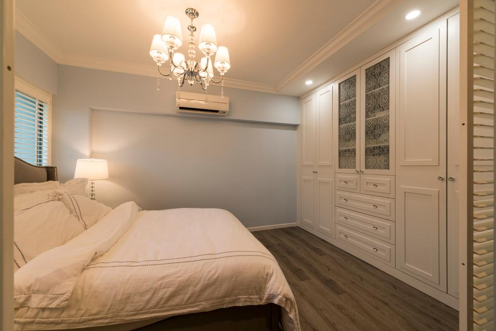 Scandinavian, HDB, Bedroom, Yishun Ring Road, Interior Designer, Project Guru, Chandelier, Lamp, Indoors, Interior Design, Room