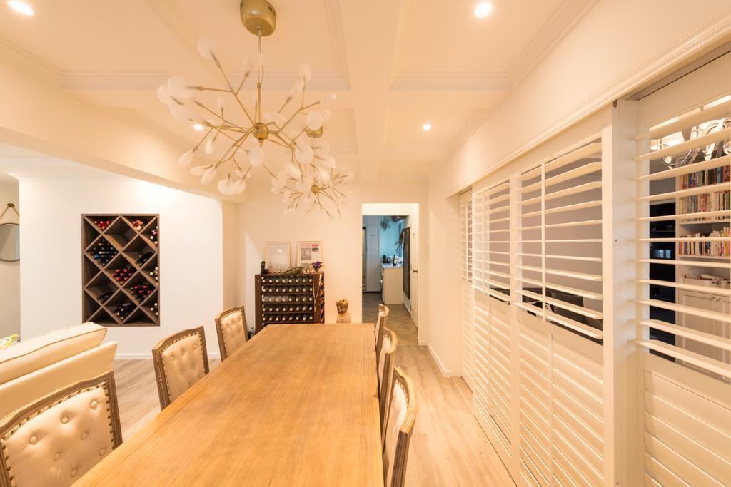 Scandinavian, HDB, Dining Room, Yishun Ring Road, Interior Designer, Project Guru, Hardwood, Wood, Indoors, Interior Design, Room, Furniture