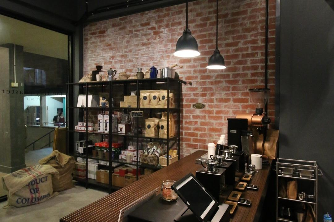 The Tiny Roaster, ChanInteriors, Industrial, Commercial, Light Fixture, Appliance, Electrical Device, Oven, Bag, Sack, Dining Room, Indoors, Interior Design, Room, HDB, Building, Housing, Loft