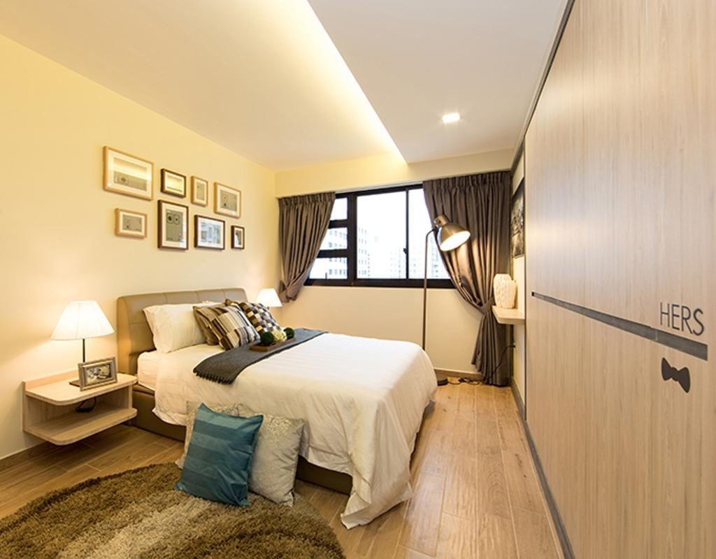 Scandinavian, HDB, Bedroom, Punggol Field (Block 259C), Interior Designer, Thom Signature Design