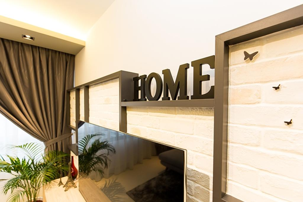 Scandinavian, HDB, Living Room, Punggol Field (Block 259C), Interior Designer, Thom Signature Design