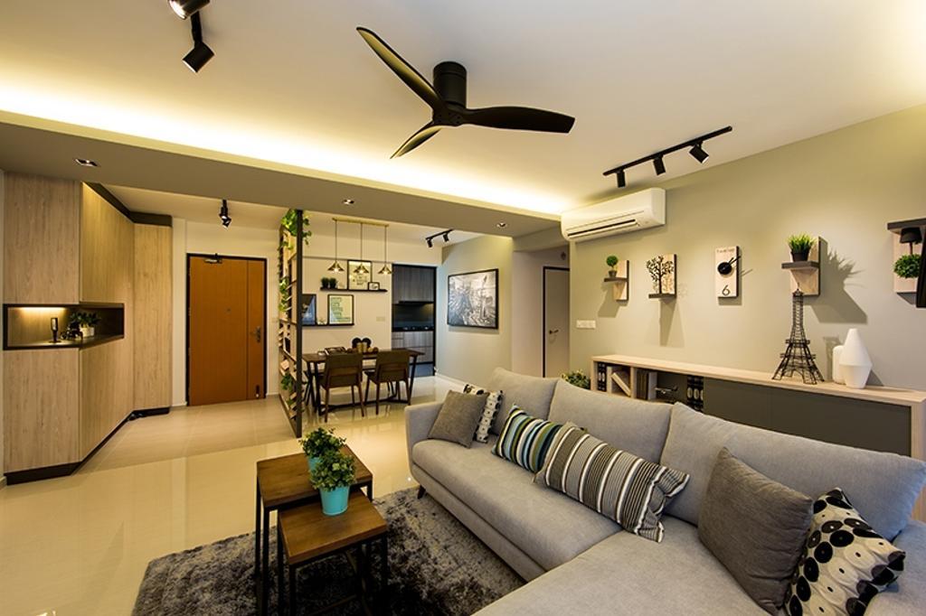 Scandinavian, HDB, Living Room, Punggol Field (Block 259C), Interior Designer, Thom Signature Design