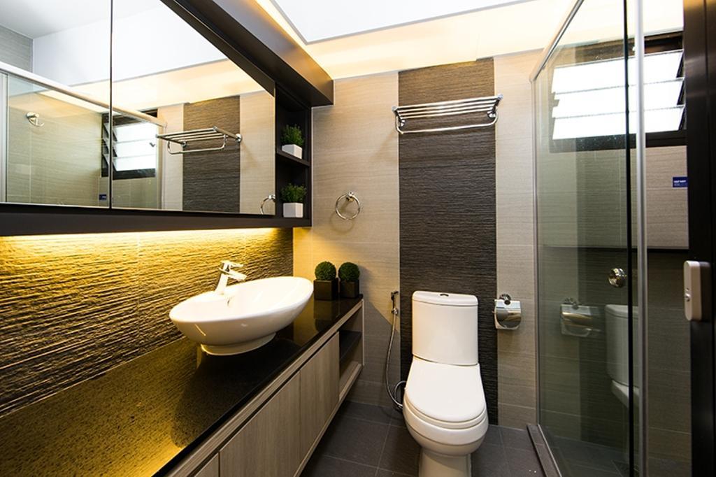 Scandinavian, HDB, Bathroom, Punggol Field (Block 259C), Interior Designer, Thom Signature Design