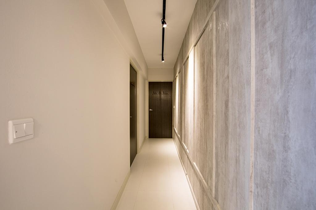 Scandinavian, HDB, Living Room, Yishun Street 31 (Block 336A), Interior Designer, Thom Signature Design, Walkway, Hallway, Laminate, Wardrobe, Storage, Concealed Storage