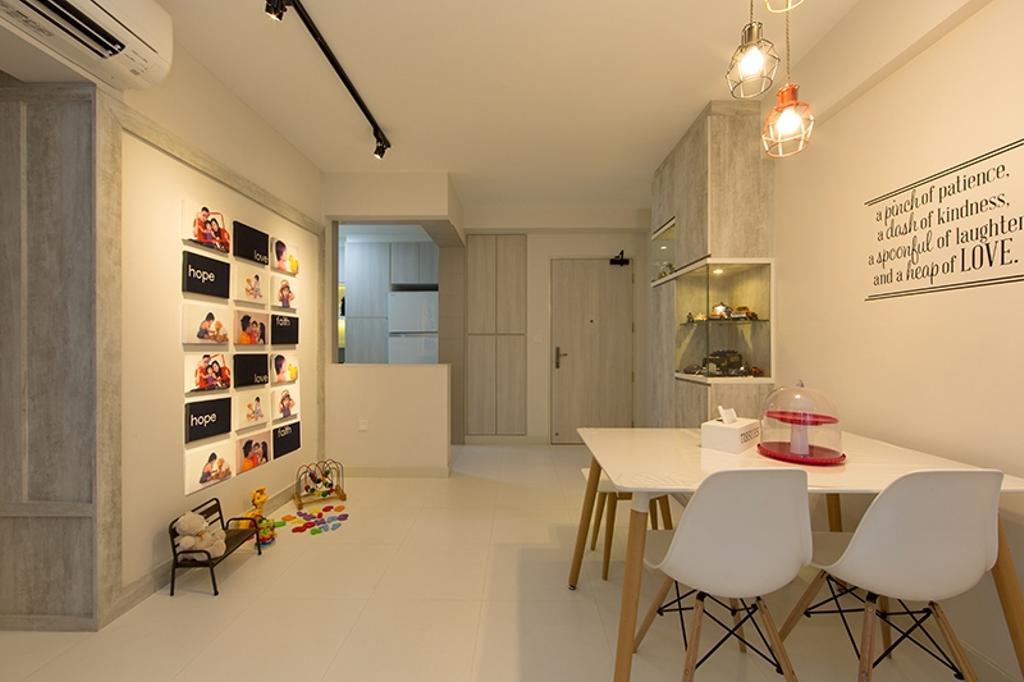 Scandinavian, HDB, Dining Room, Yishun Street 31 (Block 336A), Interior Designer, Thom Signature Design