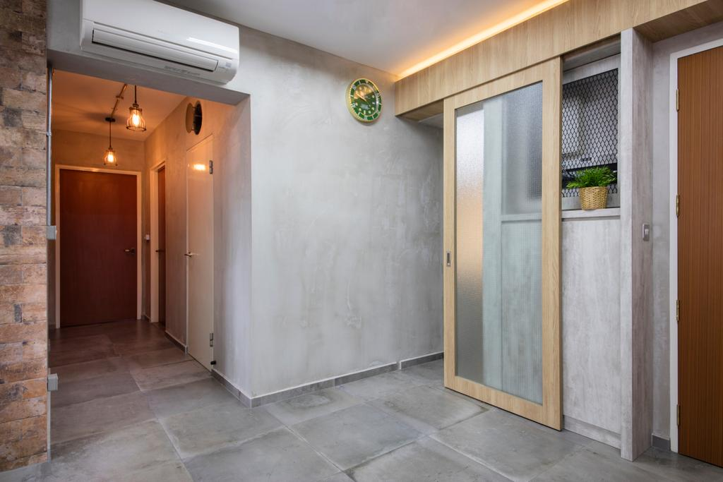Scandinavian, HDB, Living Room, Boon Lay Drive (Block 197A), Interior Designer, Ascenders Design Studio, Elevator, Building, Housing, Indoors, Loft, Flooring