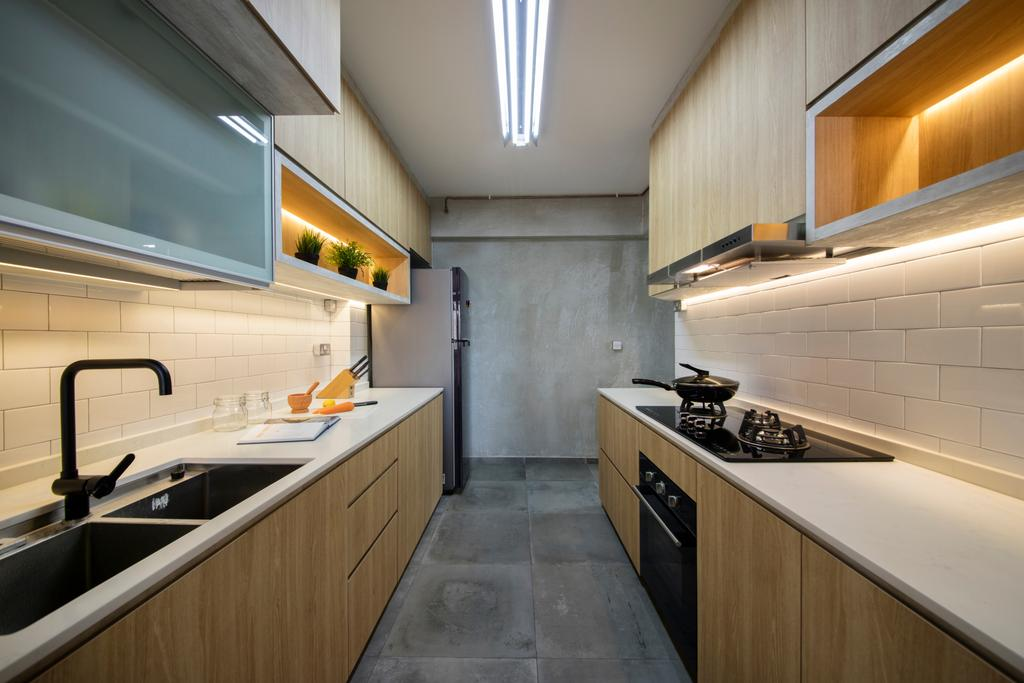 Scandinavian, HDB, Kitchen, Boon Lay Drive (Block 197A), Interior Designer, Ascenders Design Studio, Appliance, Electrical Device, Oven