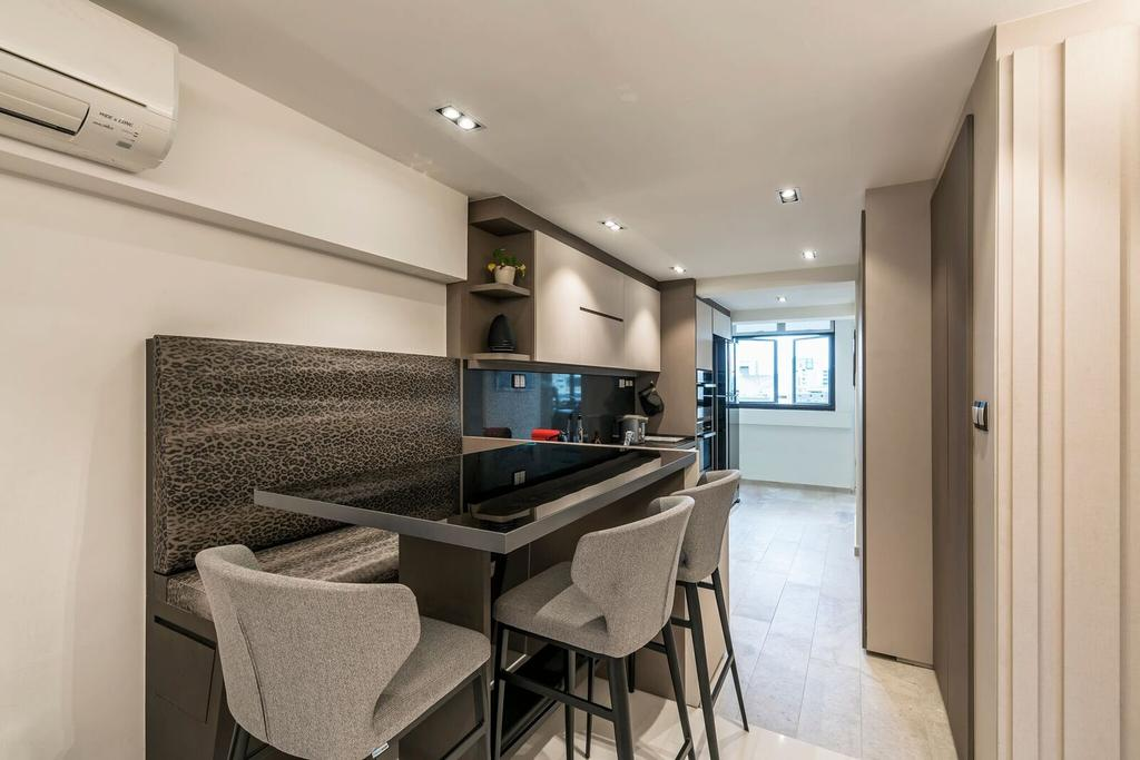 Modern, HDB, Dining Room, Toa Payoh Lorong 1, Interior Designer, Starry Homestead, Chair, Furniture, Dining Table, Table