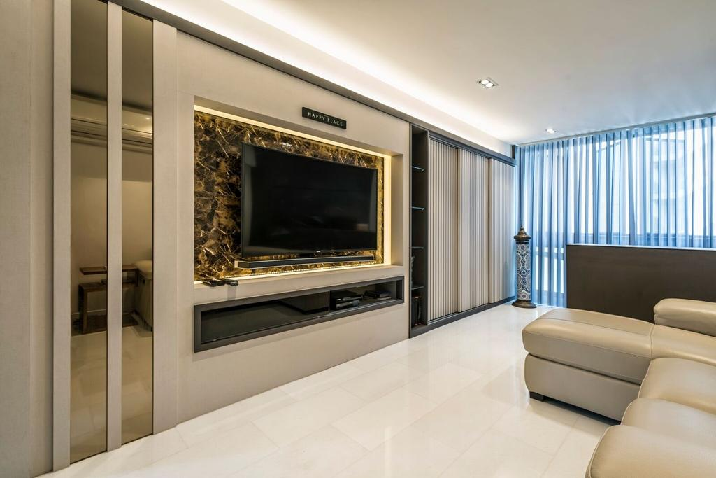 Modern, HDB, Living Room, Toa Payoh Lorong 1, Interior Designer, Starry Homestead, Fireplace, Hearth, Indoors, Interior Design