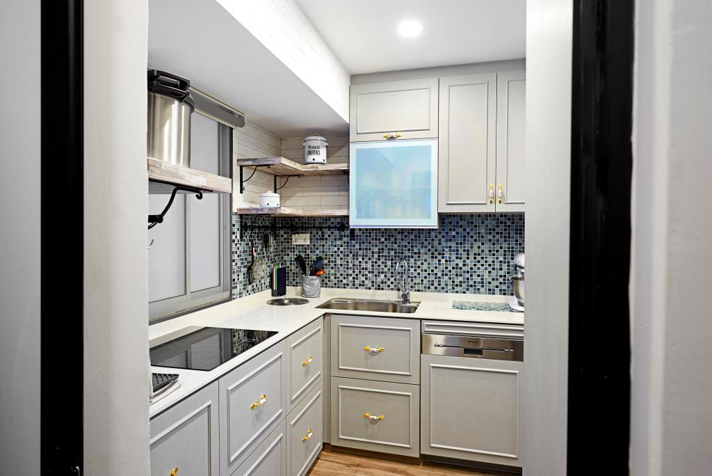 Vintage, Condo, Kitchen, Hillvista, Interior Designer, Weiken.com, Indoors, Interior Design, Room, Appliance, Electrical Device, Oven