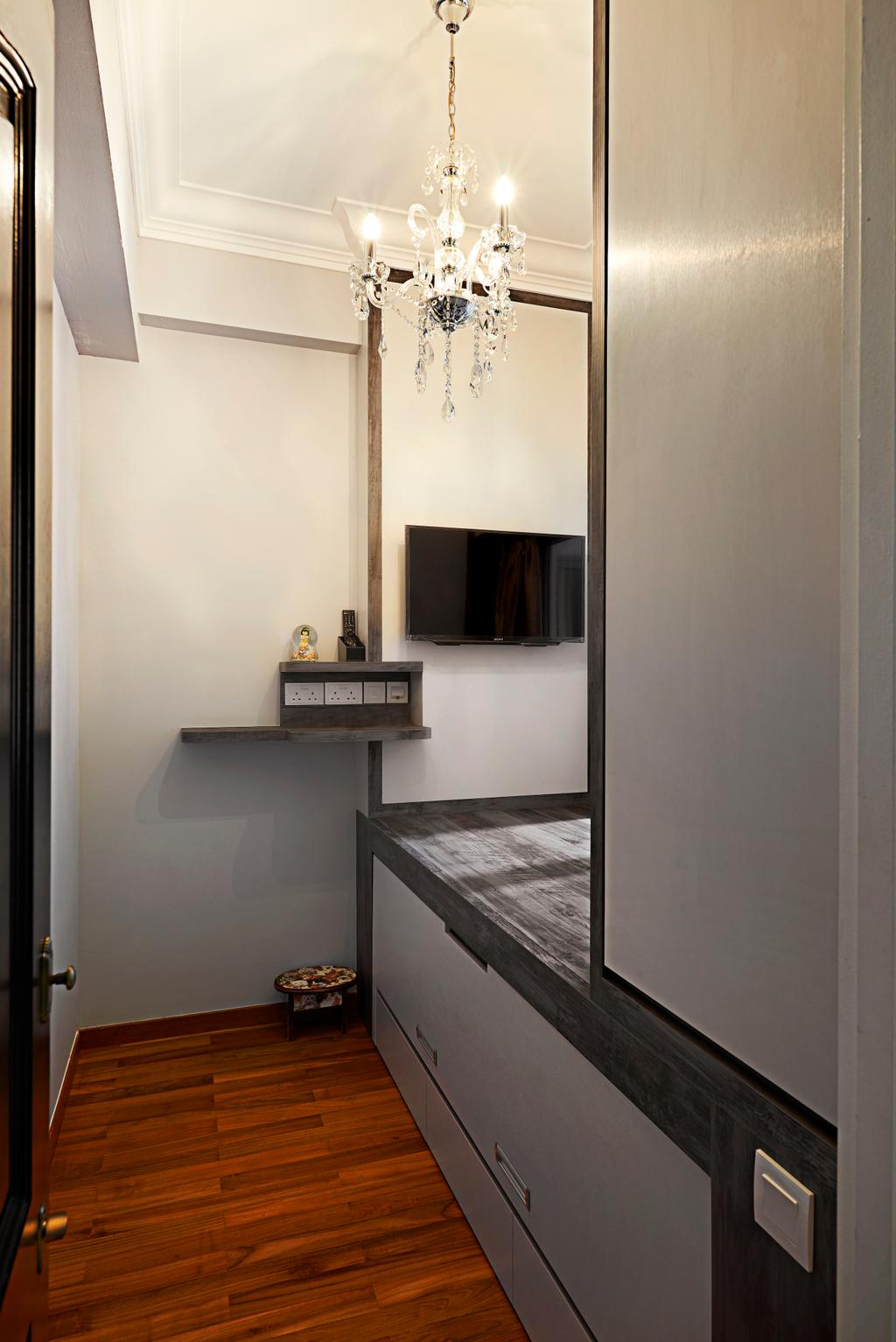 Vintage, Condo, Bedroom, Hillvista, Interior Designer, Weiken.com, Shelf