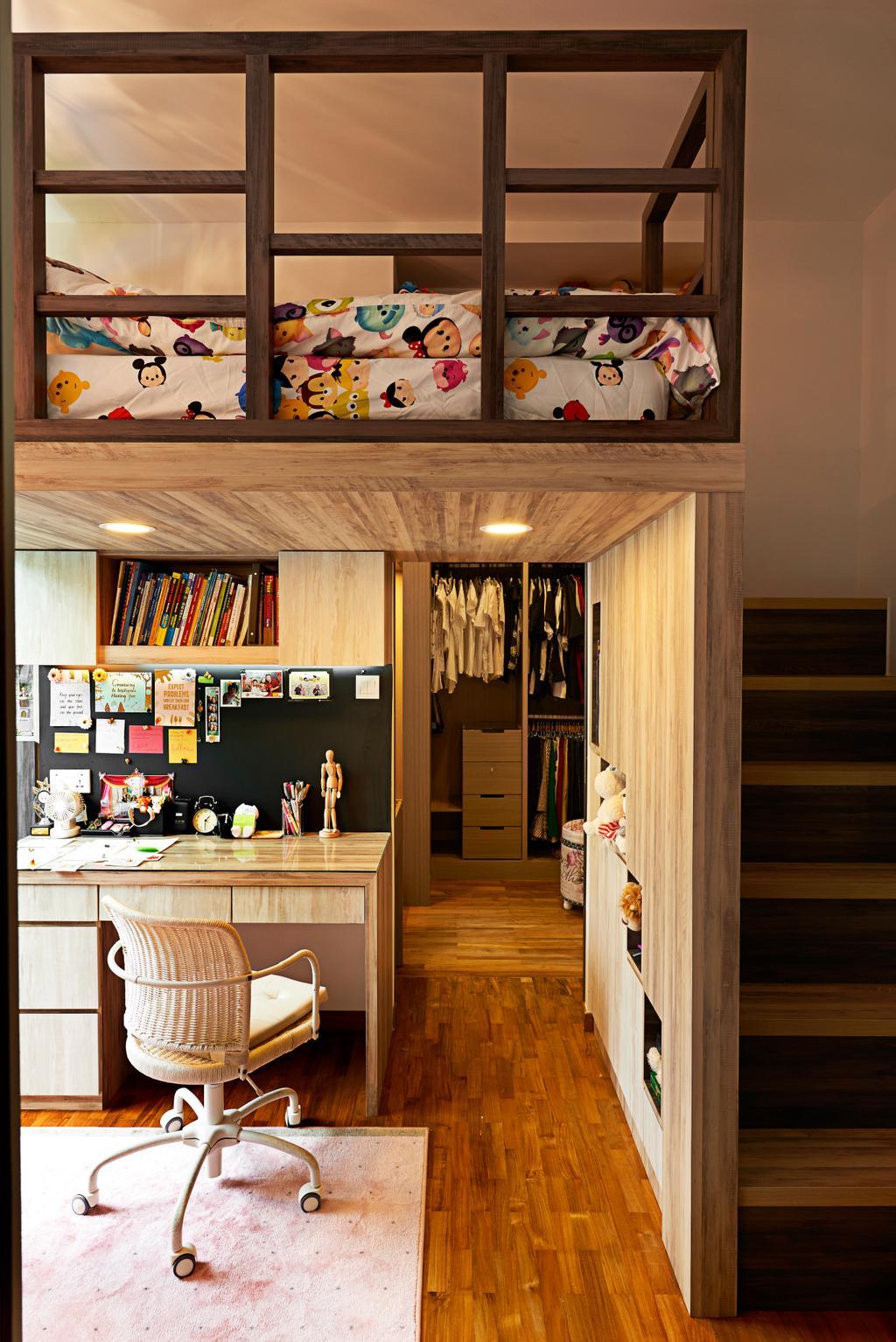 Vintage, Condo, Study, Hillvista, Interior Designer, Weiken.com