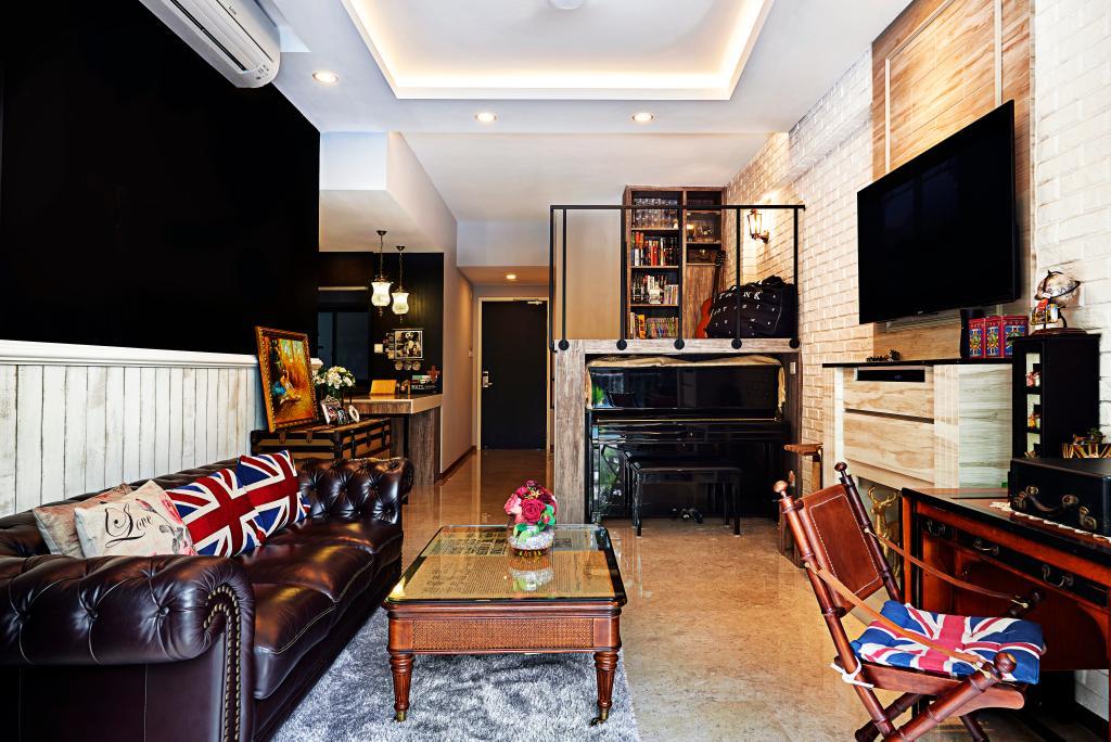 Vintage, Condo, Living Room, Hillvista, Interior Designer, Weiken.com, Indoors, Room