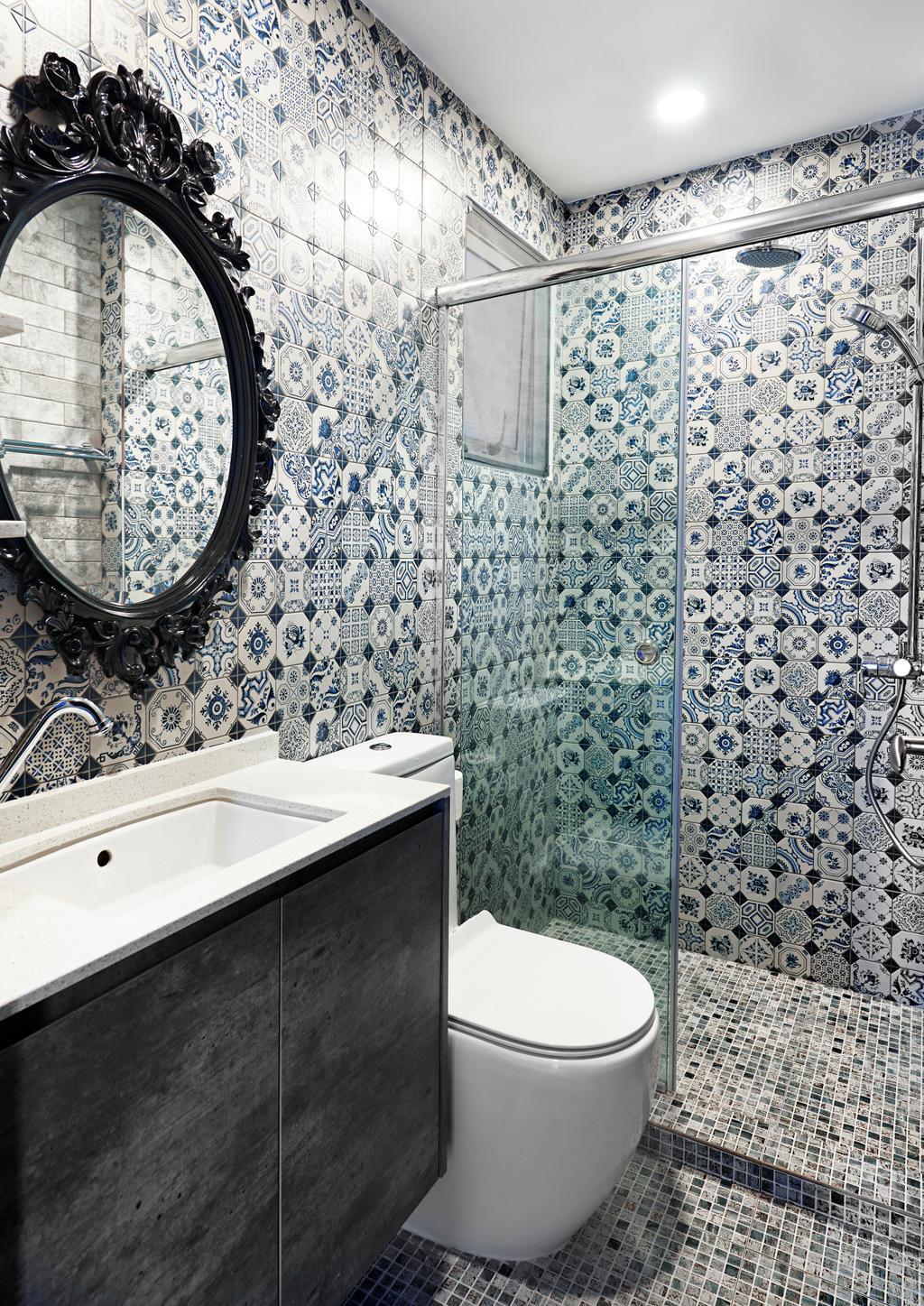 Vintage, Condo, Bathroom, Hillvista, Interior Designer, Weiken.com, Indoors, Interior Design, Room