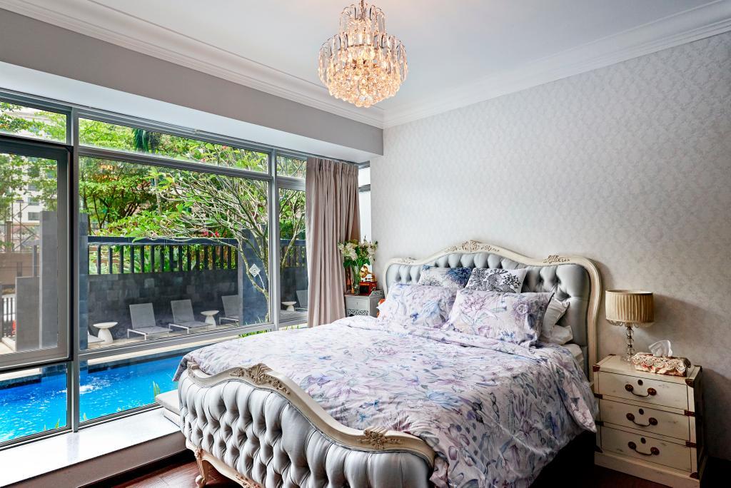 Vintage, Condo, Bedroom, Hillvista, Interior Designer, Weiken.com, Pool, Water, Indoors, Interior Design, Room, Bed, Furniture, Building, Hotel, Resort, Swimming Pool