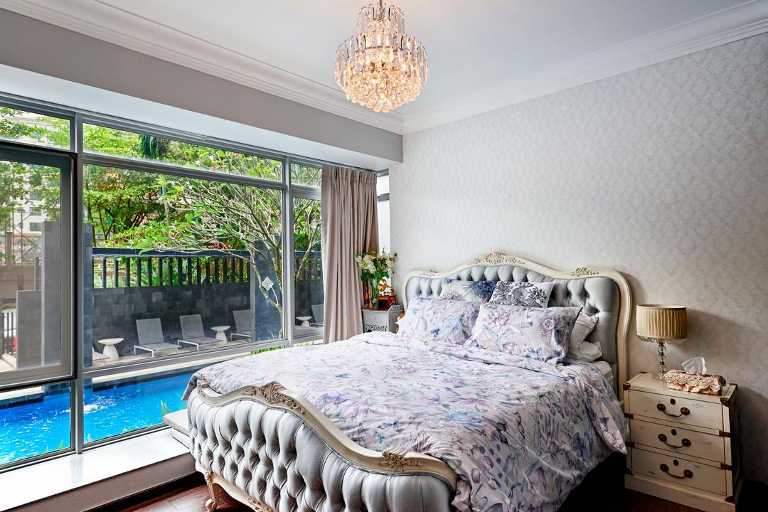 Hillvista, Weiken.com, Vintage, Bedroom, Condo, Pool, Water, Indoors, Interior Design, Room, Bed, Furniture, Building, Hotel, Resort, Swimming Pool