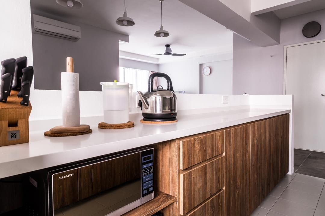 McNair, The Local INN.terior 新家室, Minimalist, Kitchen, HDB, Indoors, Interior Design, Room, Kettle, Pot