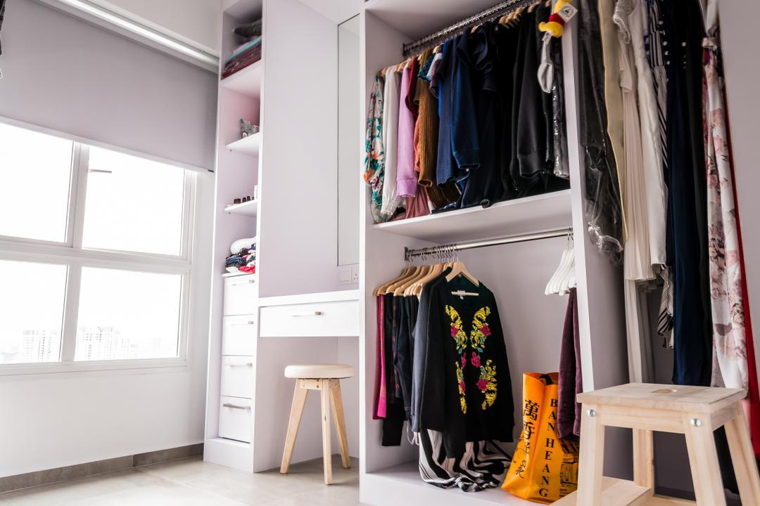 McNair, The Local INN.terior 新家室, Minimalistic, Bedroom, HDB, Bar Stool, Furniture, Cloak, Clothing