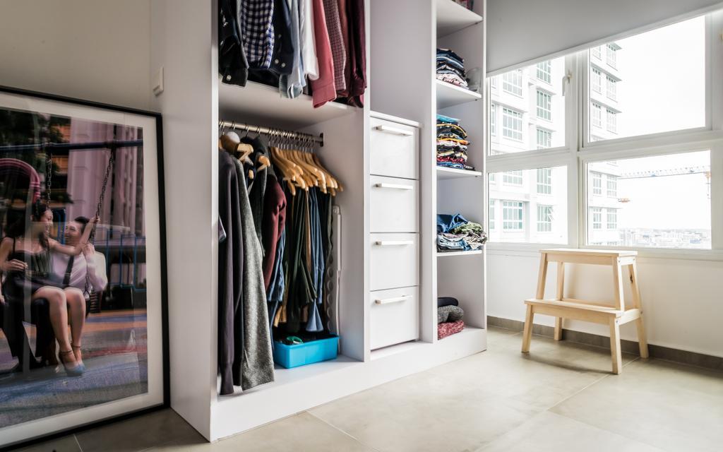 Minimalistic, HDB, Bedroom, McNair, Interior Designer, The Local INN.terior 新家室, Human, People, Person, Closet, Apparel, Clothing