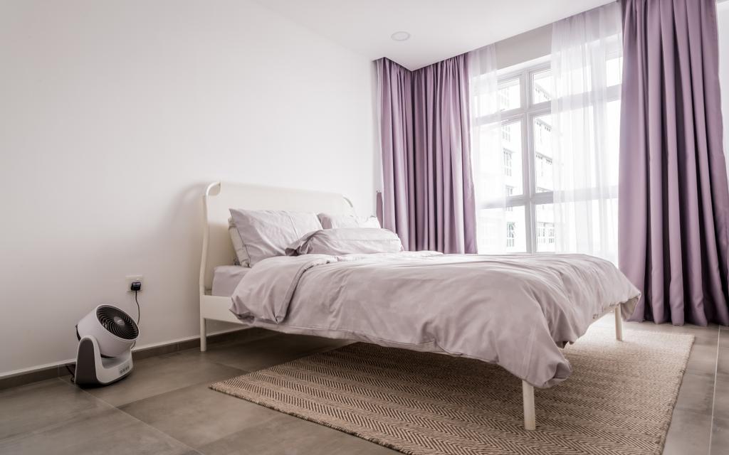 Minimalistic, HDB, Bedroom, McNair, Interior Designer, The Local INN.terior 新家室, Bed, Furniture, Indoors, Interior Design, Room