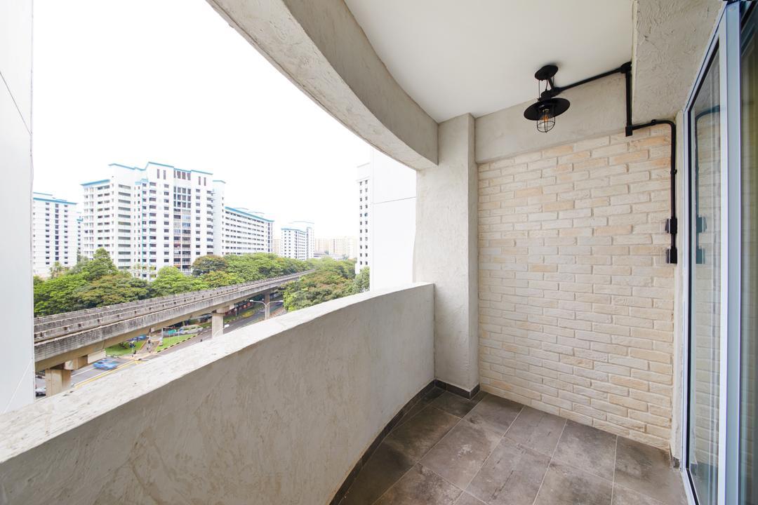 Compassvale (Block 252), The Local INN.terior 新家室, Minimalistic, Scandinavian, Balcony, HDB, Siding