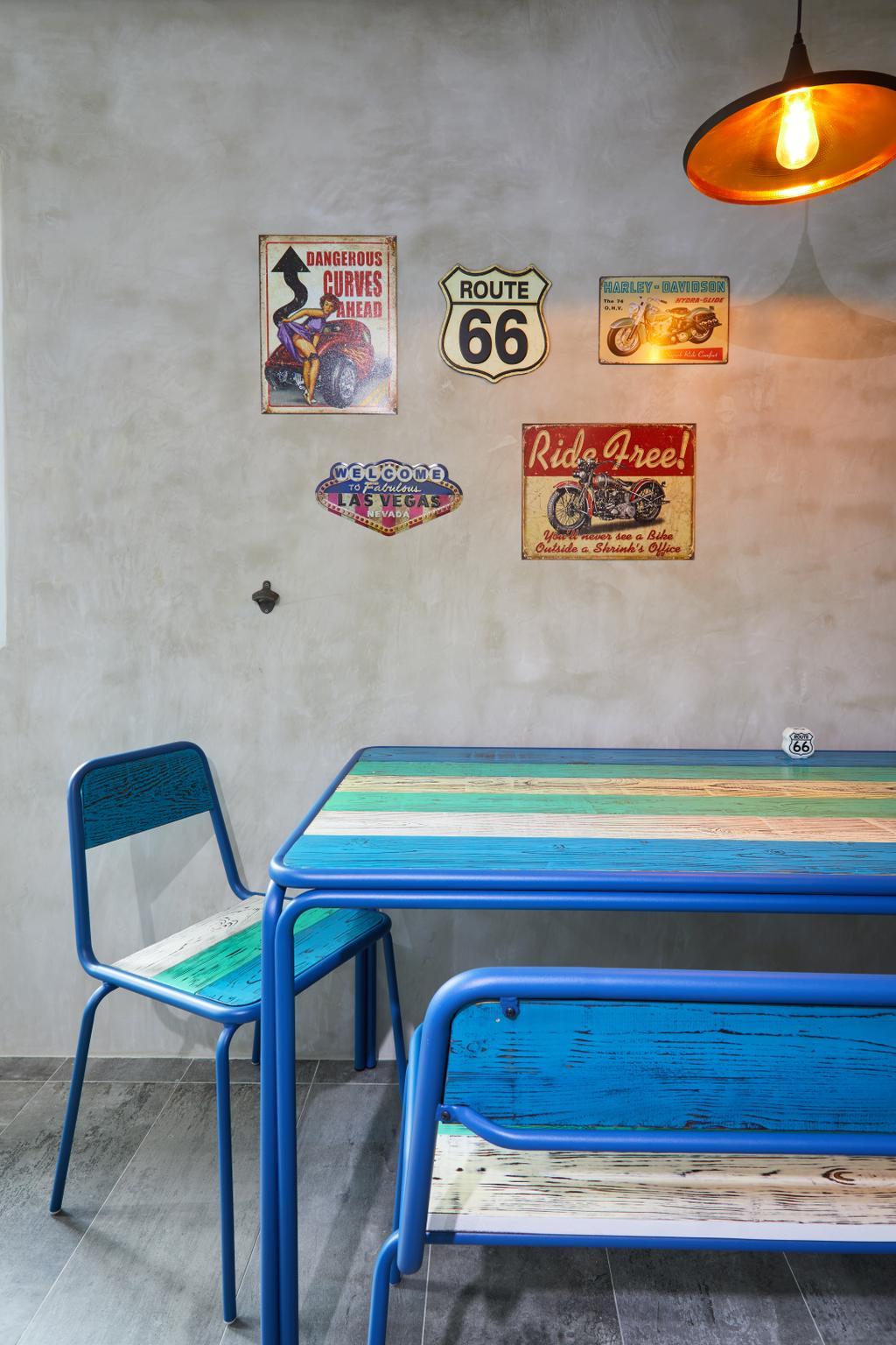 Minimalistic, HDB, Dining Room, Compassvale (Block 252), Interior Designer, The Local INN.terior 新家室, Scandinavian, Chair, Furniture