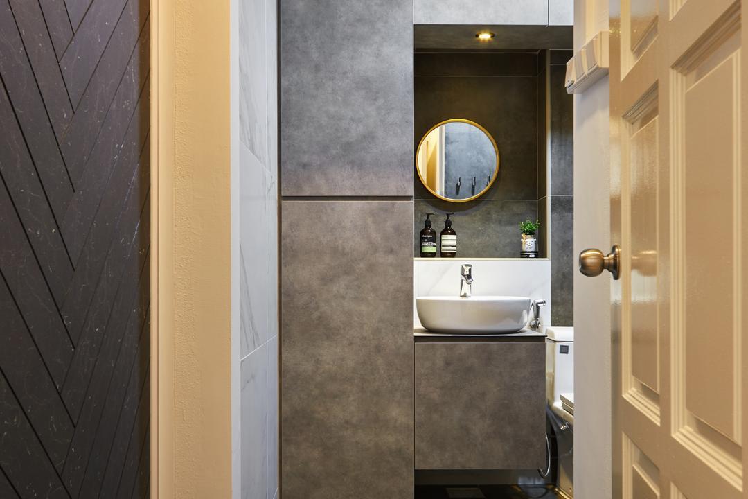 Senja Road (Block 606), The Local INN.terior 新家室, Modern, Bathroom, HDB, Porthole, Window