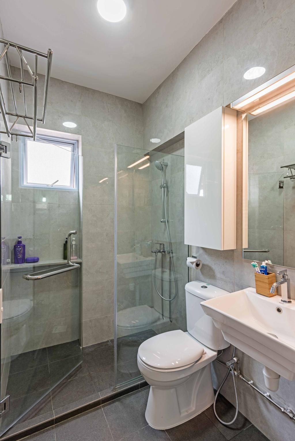 Minimalistic, HDB, Bathroom, Bishan Street 22 (Block 250), Interior Designer, DB Studio, Indoors, Interior Design, Room