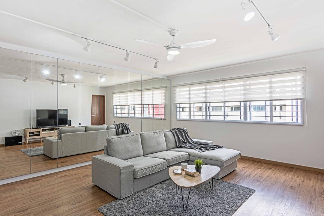 Bishan Street 22 (Block 250), DB Studio, Minimalistic, Living Room, HDB, Bright, Airy, Couch, Furniture, Indoors, Interior Design