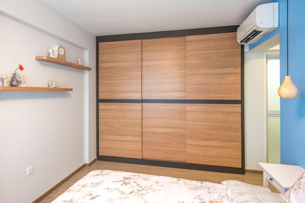 Minimalistic, HDB, Bedroom, Fernvale Link (Block 415B), Interior Designer, DB Studio, Shelf