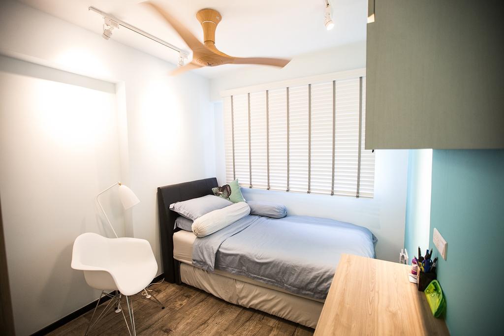 Minimalistic, HDB, Bedroom, Tampines Greenforest (Block 878A), Interior Designer, DB Studio, Industrial, Chair, Furniture, Indoors, Interior Design, Room