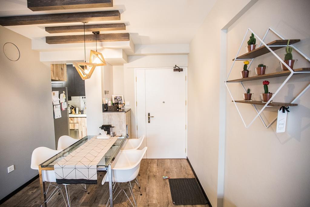 Minimalistic, HDB, Dining Room, Tampines Greenforest (Block 878A), Interior Designer, DB Studio, Industrial, Shelf, Chair, Furniture, Indoors, Interior Design