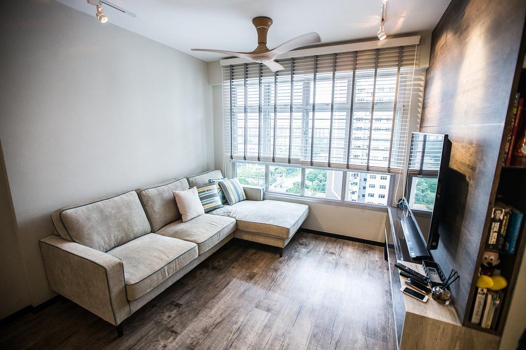 Minimalistic, HDB, Living Room, Tampines Greenforest (Block 878A), Interior Designer, DB Studio, Industrial