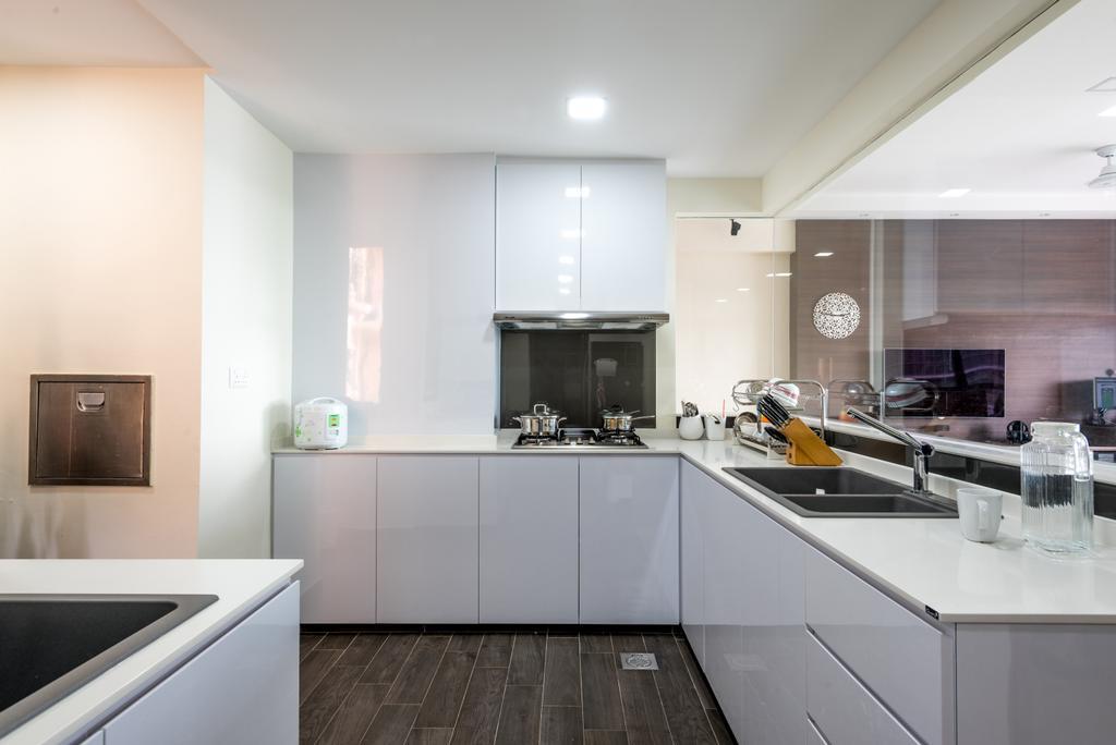 Modern, Condo, Kitchen, Thomson 808, Interior Designer, DB Studio, Sink, Indoors, Interior Design, Room