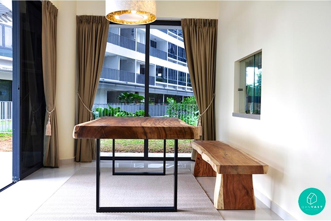 Dine In Style With A Wooden Dining Table Qanvast - Wodden dining table