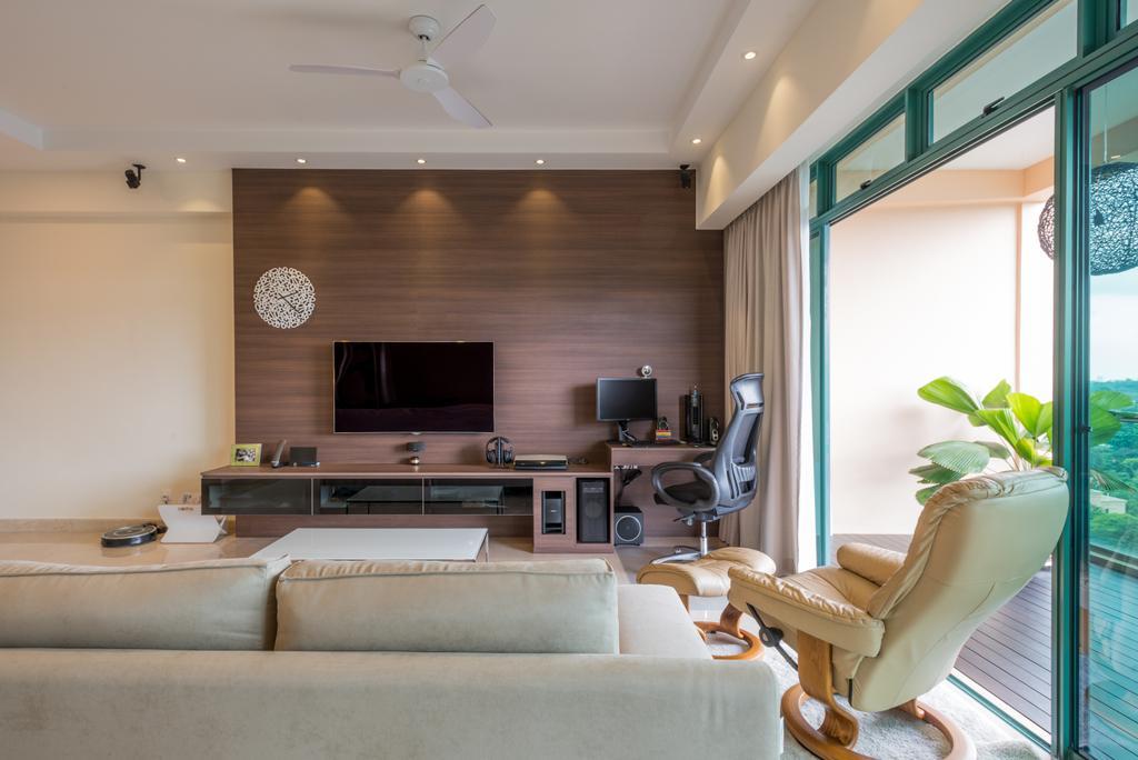 Modern, Condo, Living Room, Thomson 808, Interior Designer, DB Studio, Couch, Furniture, Chair, Indoors, Interior Design, Electronics, Entertainment Center, Home Theater, Spa