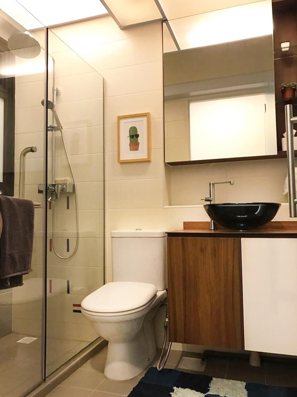 Modern, HDB, Bathroom, Keat Hong Axis (Block 809A), Interior Designer, DB Studio, Indoors, Interior Design, Room, Toilet