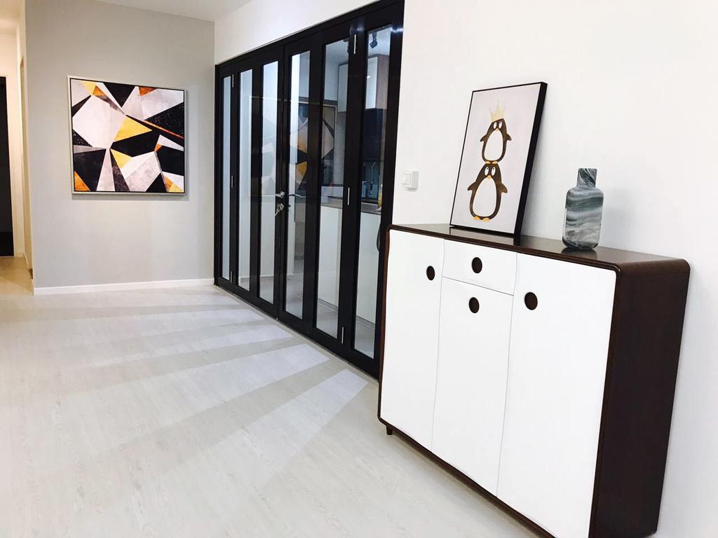 Modern, HDB, Keat Hong Axis (Block 809A), Interior Designer, DB Studio, Art, Modern Art, Furniture, Sideboard, Flooring