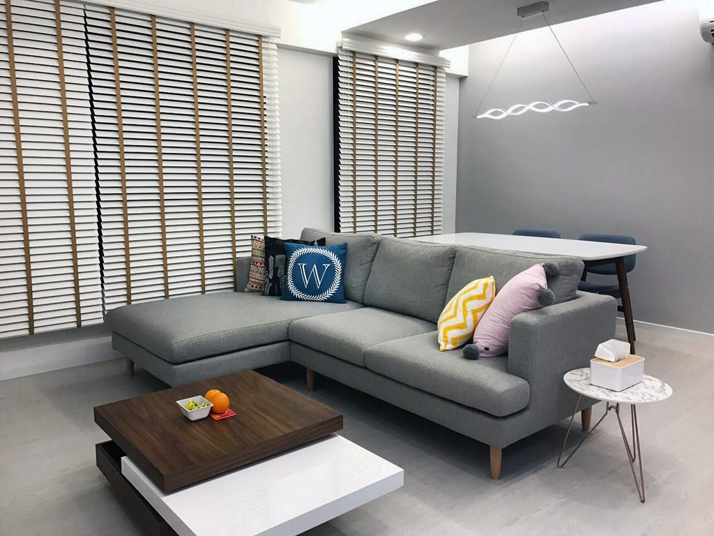 Modern, HDB, Living Room, Keat Hong Axis (Block 809A), Interior Designer, DB Studio, Couch, Furniture