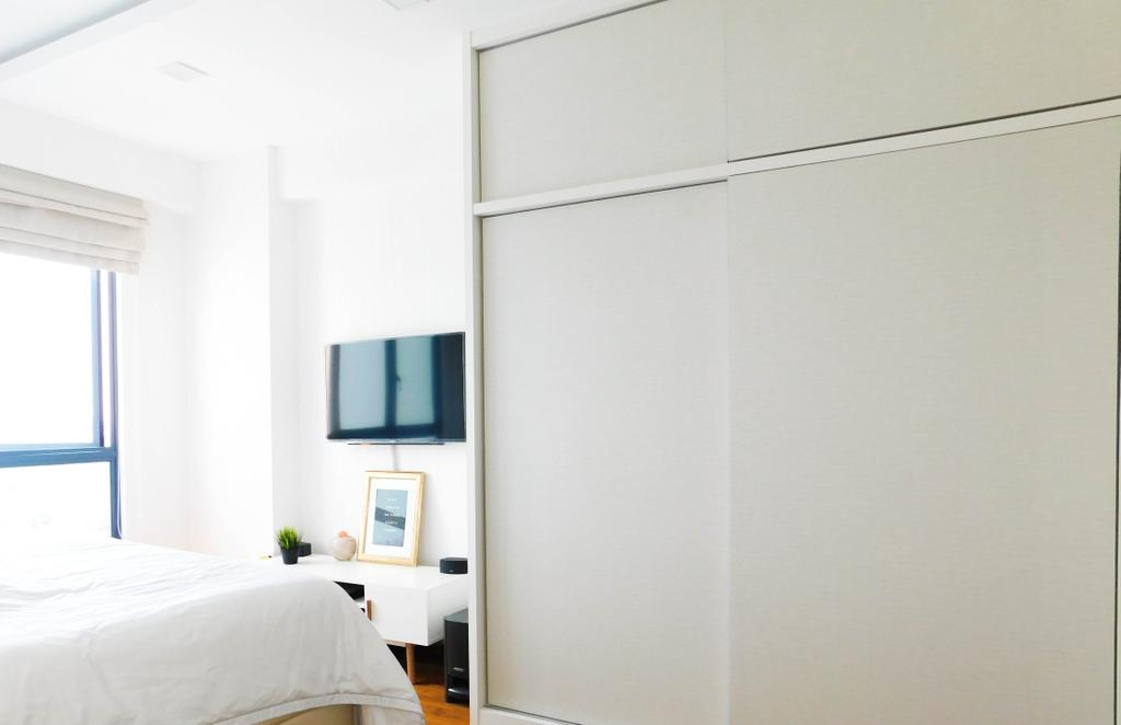 Minimalistic, Condo, Bedroom, Water Place, Interior Designer, DB Studio, Indoors, Interior Design, Room, Door, Sliding Door