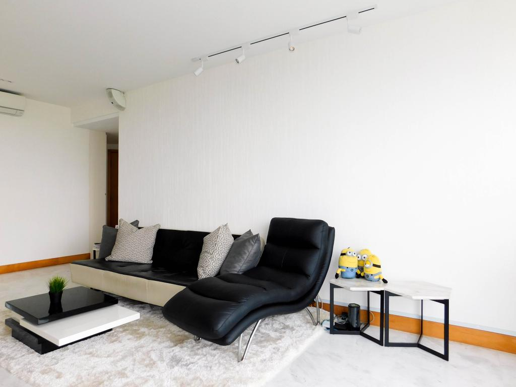 Minimalistic, Condo, Living Room, Water Place, Interior Designer, DB Studio, Couch, Furniture, Coffee Table, Table, HDB, Building, Housing, Indoors, Loft
