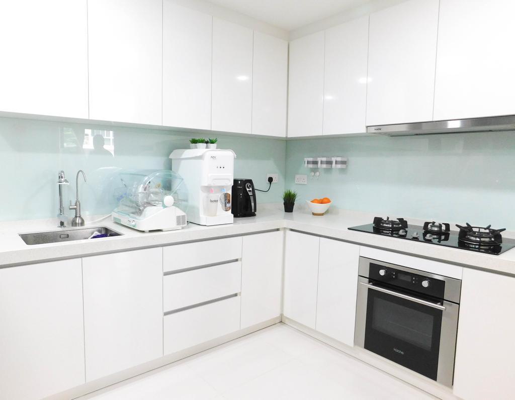 Contemporary, Condo, Kitchen, Sky Park, Interior Designer, DB Studio, Appliance, Electrical Device, Oven, Indoors, Interior Design, Room