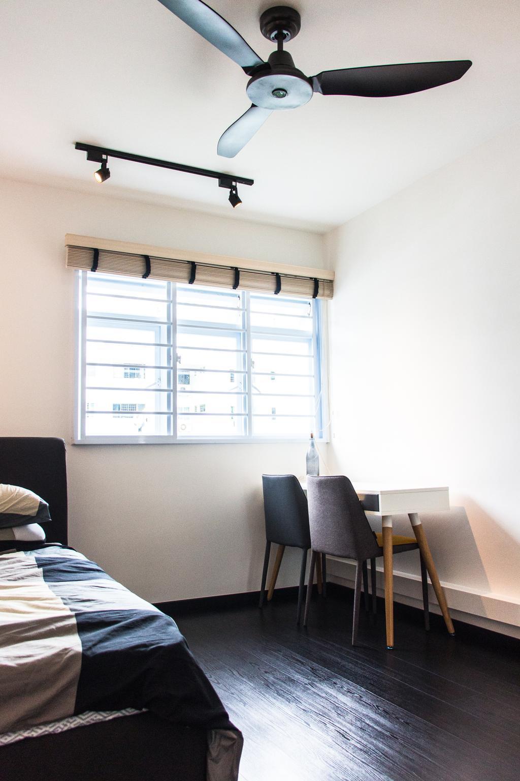 Minimalistic, HDB, Bedroom, Ang Mo Kio Avenue 3 (Block 562), Interior Designer, DB Studio, Chair, Furniture, Bench, Couch
