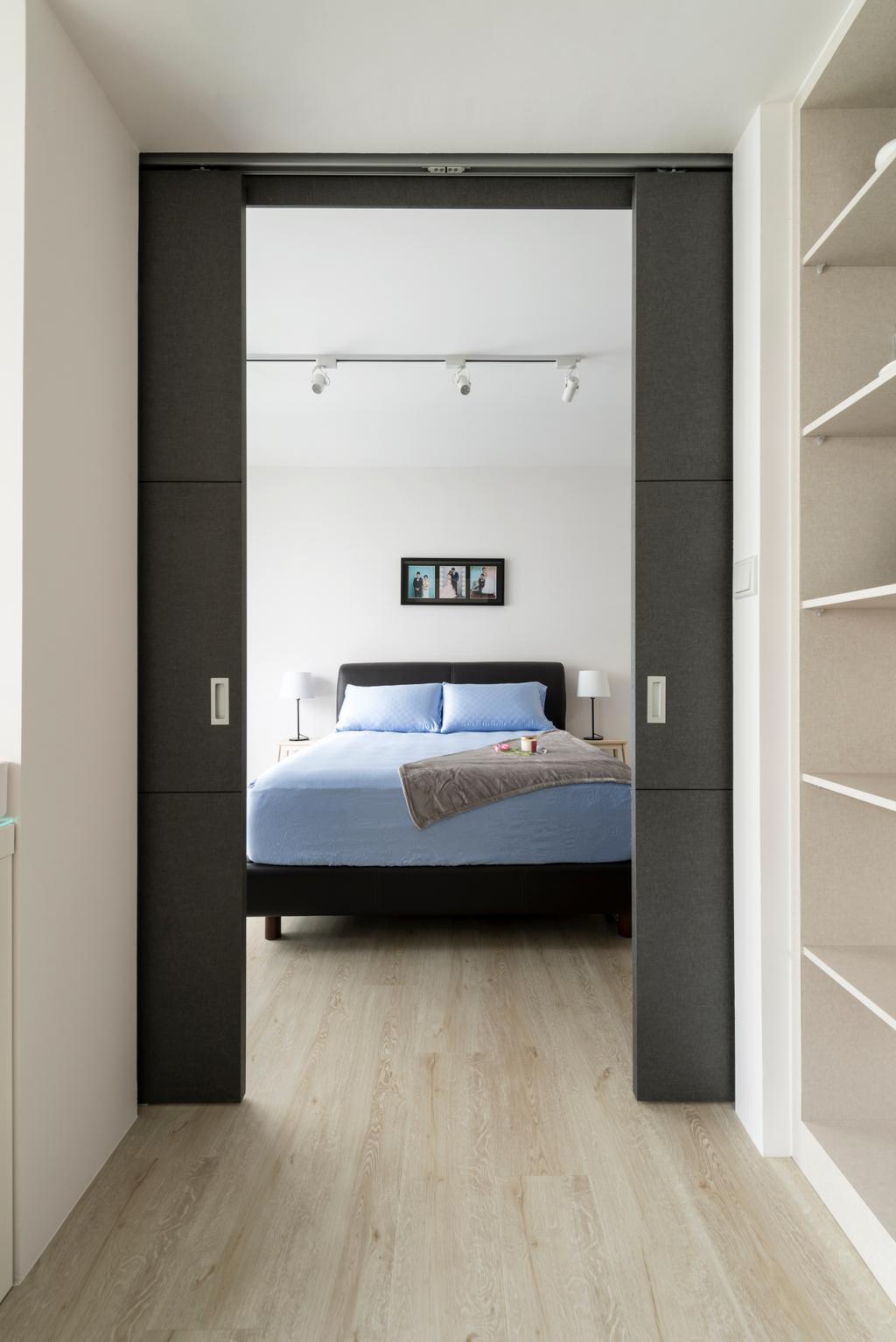 Scandinavian, HDB, Bedroom, Compassvale Crescent (Block 288B), Interior Designer, Colourbox Interior, Bed, Furniture