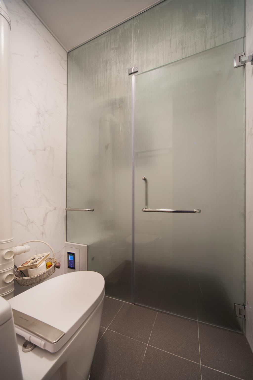 Modern, HDB, Bathroom, Sims Drive, Interior Designer, Boon Siew D'sign, Traditional