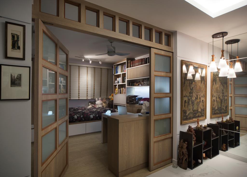 Modern, HDB, Bedroom, Sims Drive, Interior Designer, Boon Siew D'sign, Traditional