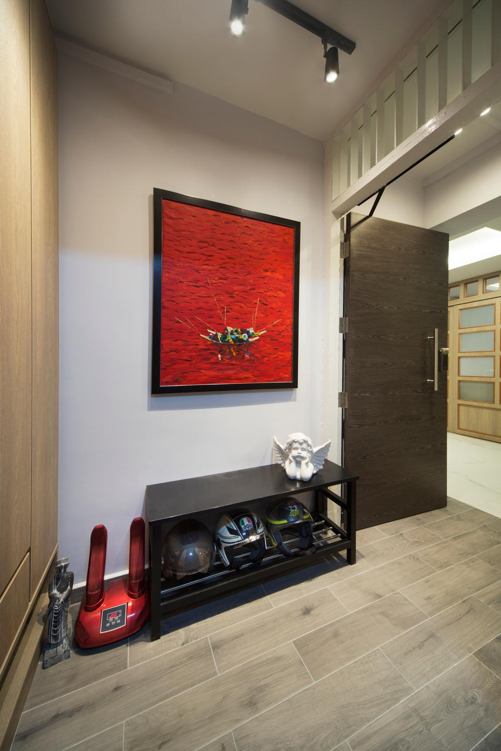 Modern, HDB, Living Room, Sims Drive, Interior Designer, Boon Siew D'sign, Traditional