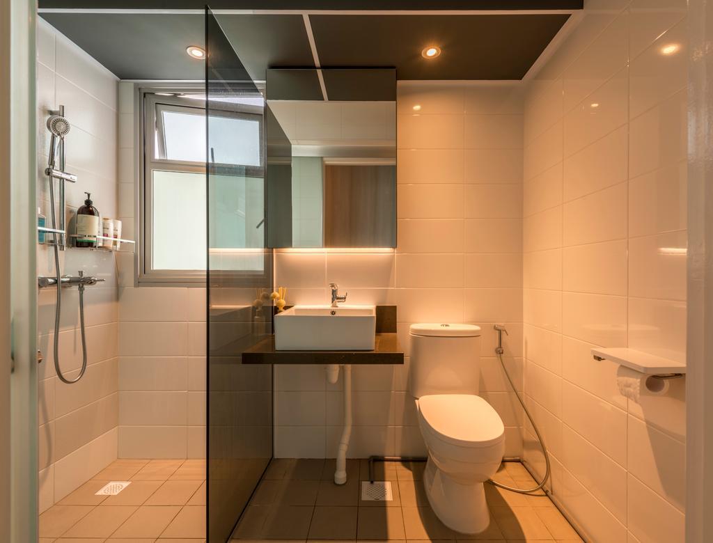 Scandinavian, HDB, Bathroom, Jalan Tenteram (Block 116A), Interior Designer, Colourbox Interior, Contemporary, Toilet, Indoors, Interior Design, Room