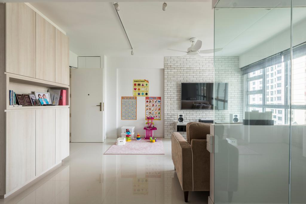Scandinavian, HDB, Living Room, Jalan Tenteram (Block 116A), Interior Designer, Colourbox Interior, Contemporary, Bookcase, Furniture